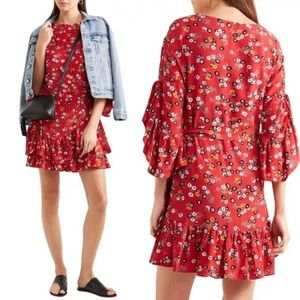 NWT Maje Rahimi Floral-Print Crepe Dress